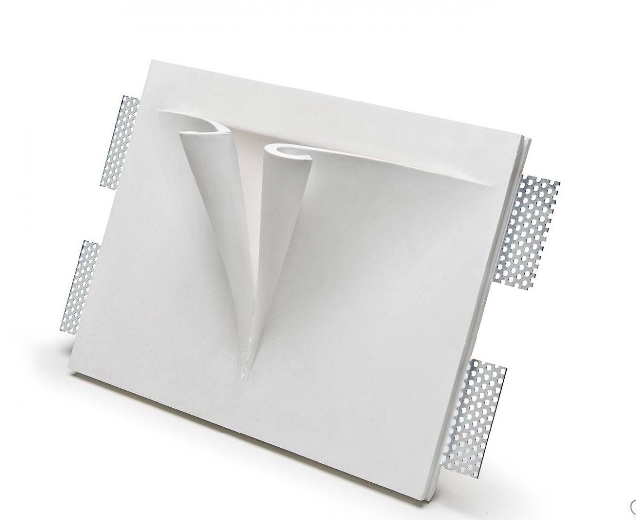 Faretti Gesso Isyluce: Isyluce spot cubo in gesso bianco da soffitto.