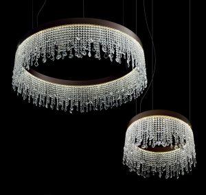Eclisse SO Leuchte aus Kristall von Vintage