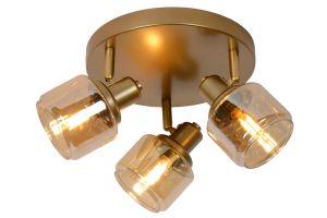 LU 77979/13/02 Lucide BJORN - Ceiling spotlight - Ø 39 cm - 3xE14 - Matt Gold / Brass
