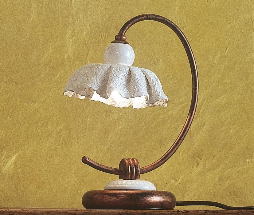 modena lu tischleuchte von ferroluce rustikale leuchten. Black Bedroom Furniture Sets. Home Design Ideas