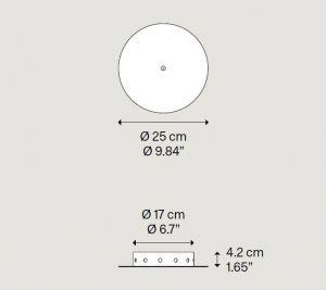 Radial 12 Lights Metallrosette von Lodes