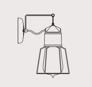 914 Novecento Handmade Wandlampe von Toscot