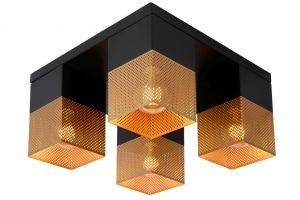 LU 21123/04/02 RENATE Ceiling Light  4x E27/40W Black/Gold