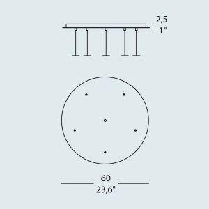 Trottola RO5 5-er Deckenrosette von Evi Style