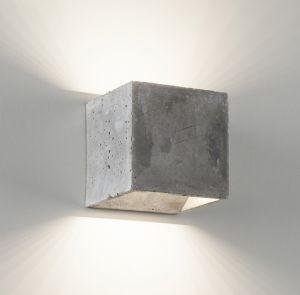 2495 LED Wandleuchte aus Zement von Belfiore