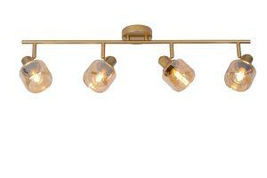 LU 77979/04/02 Lucide BJORN - Wall spotlight - 4xE14 - Matt Gold / Brass