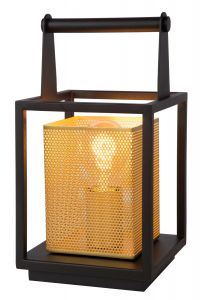 LU 21522/01/30 SANSA Table lamp 1xE27/40W Black/Gold