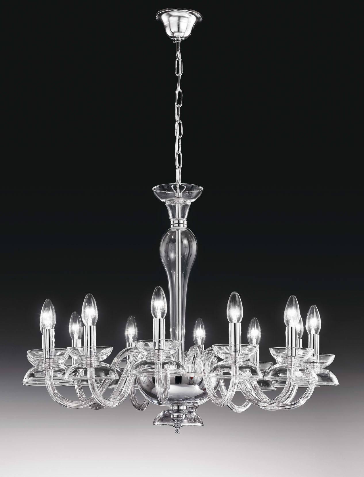 DalÍ 12l Crystal Chandelier By Voltolina Chandeliers Indoor Lighting Platinlux Italian Design At Top S