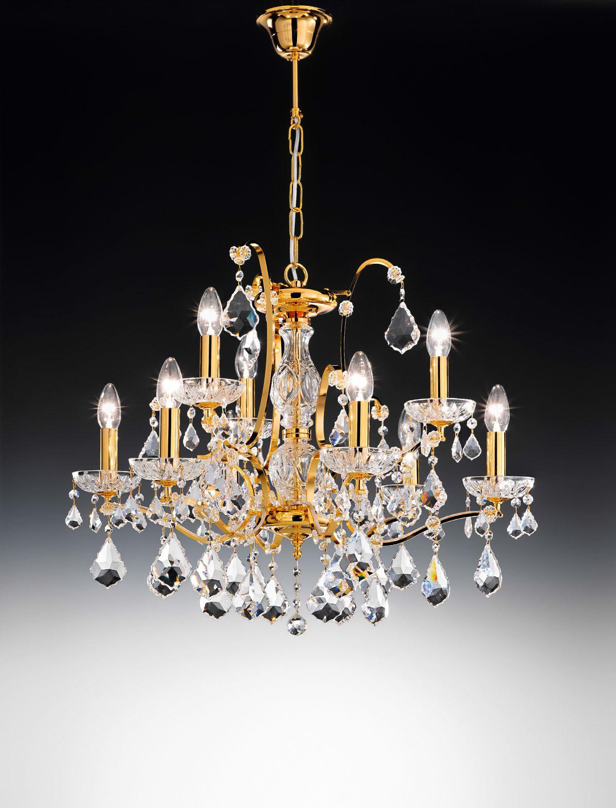 salisburgo 6 3l kristalluster von voltolina klassisch stile platinlux der online shop. Black Bedroom Furniture Sets. Home Design Ideas