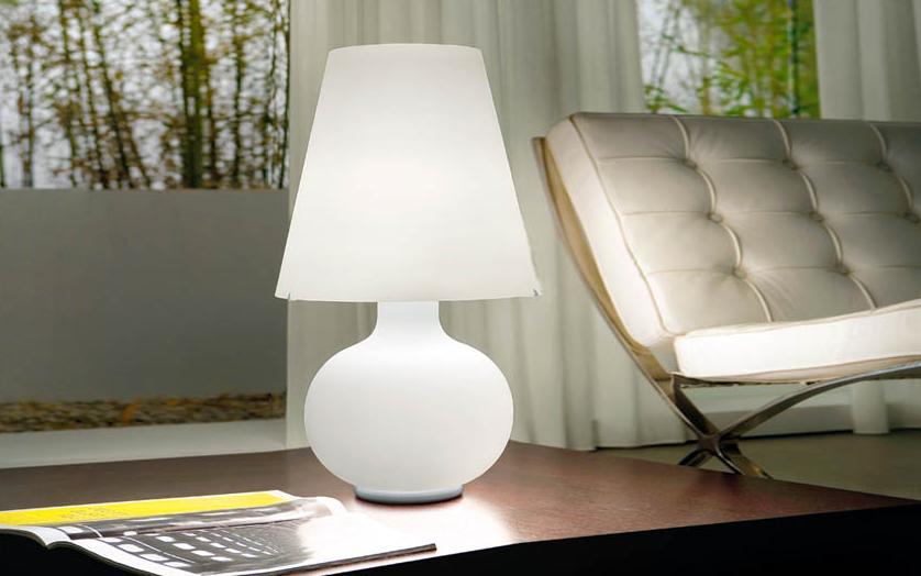 Lampada design murano luce candy 55 lampade da tavolo for Lampade a led vendita online