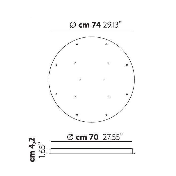 Runde Deckenrosette Für 14 Leuchten Von Studio Italia Design