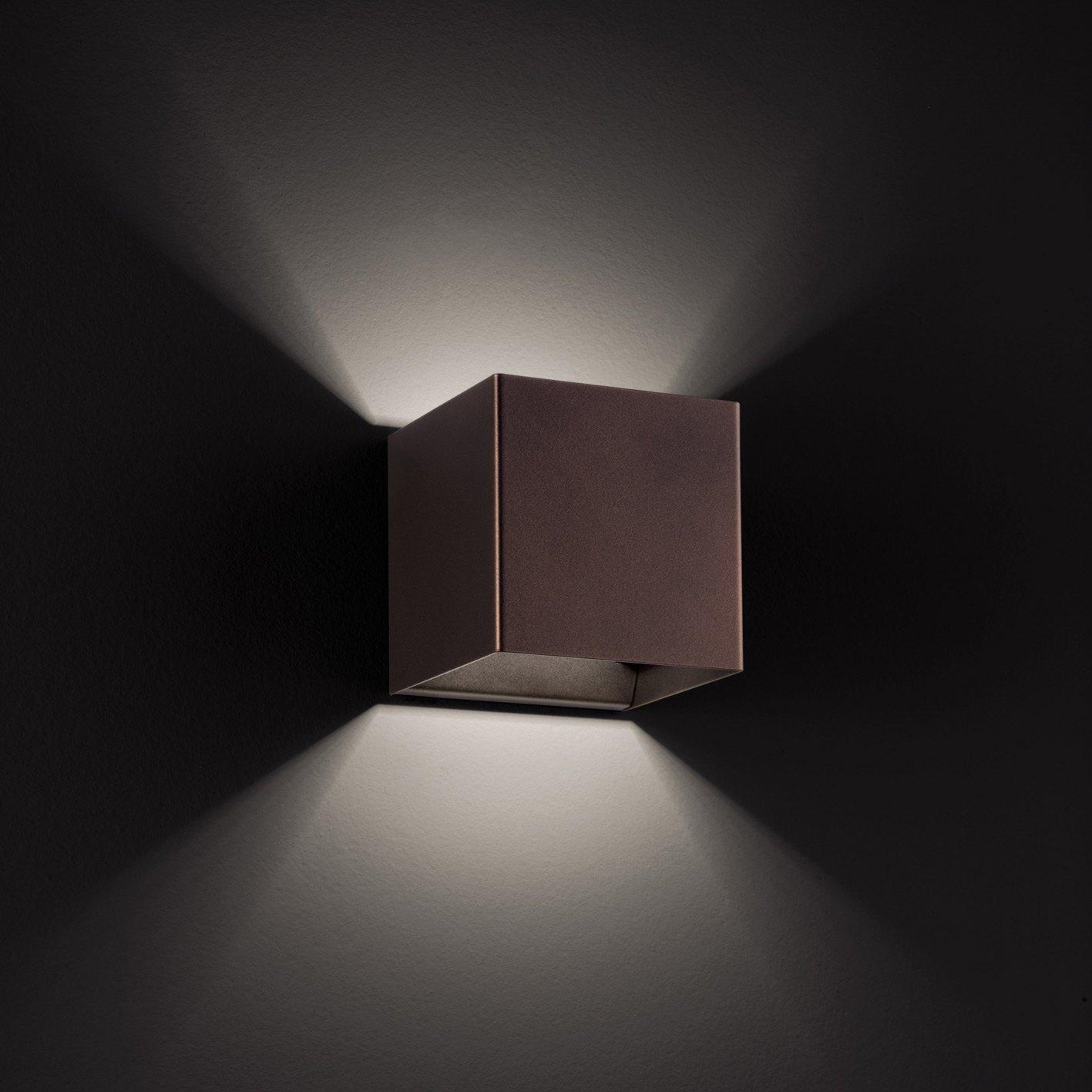 laser cube 10x10 ap9 ap11 led wall light by studio italia design. Black Bedroom Furniture Sets. Home Design Ideas