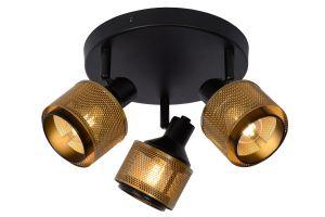 LU 77980/13/30 Lucide RAFA - Ceiling spotlight - Ø 42 cm - 3xE14 - Black