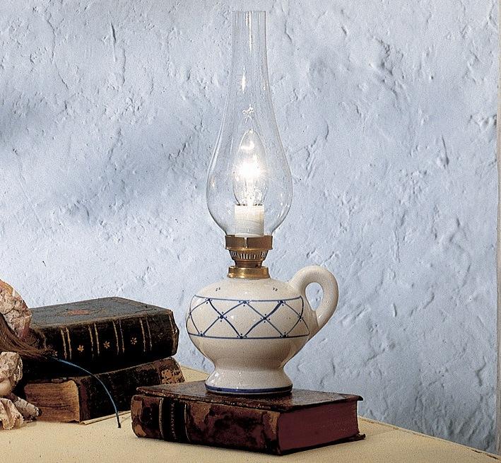 Pompei lampada da tavolo di ferroluce rustico interno for Lampade a led vendita online