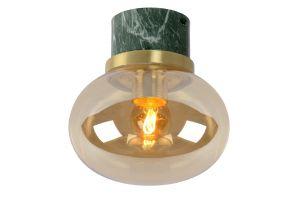 LU 03140/18/62 LORENA Ceiling Light E27 Ø 18cm Green Marble / Amb