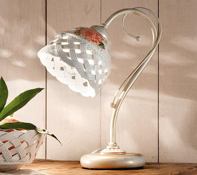 Verona lu lampada da tavolo di ferroluce rustico for Lampade a led vendita online