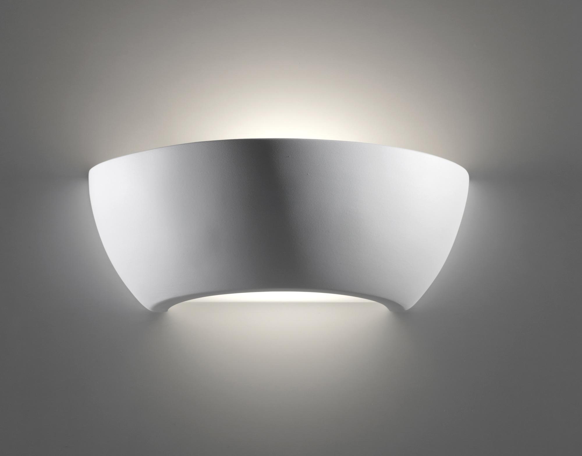 8216 lampada da parete in gesso di belfiore - Applique in gesso da parete ...