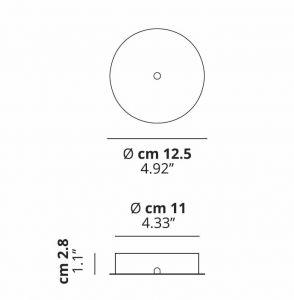 Radial 4 Deckenrosette von Studio Italia Design