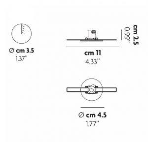 Recessed Micro Einbaurosette von Lodes