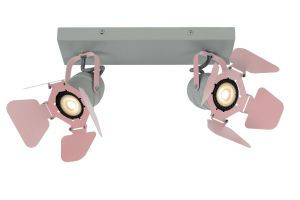 LU 17997/02/66 PICTO Ceililng spotlight 2xGU10/5W incl Pink