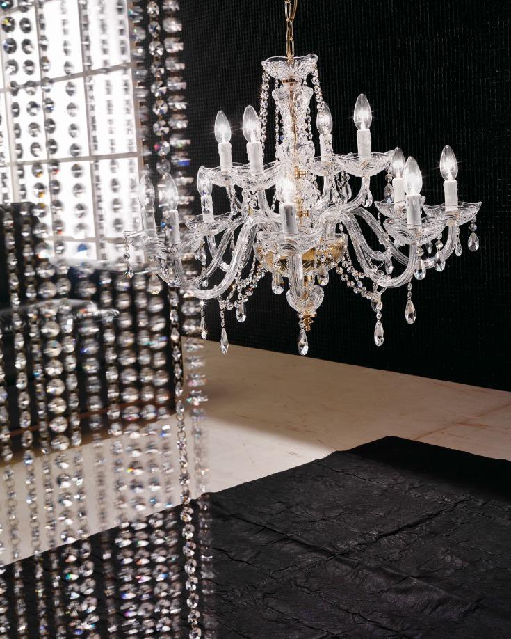 Siviglia 8 4l lampadario cristallo di voltolina for Lampade a led vendita online