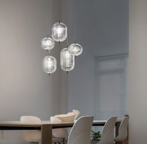 Jefferson Medium Pendelleuchte aus Glas von Studio Italia Design