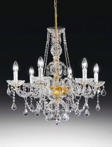 Serenade 6L Crystal chandelier by Voltolina