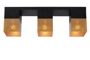 LU 21123/03/02 RENATE Ceiling Light  3x E27/40W Black/Gold