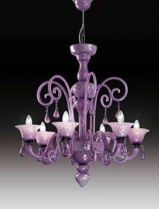 Nuvola 6L chandelier by Voltolina