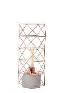 LU 71566/01/17 RUMICO Table Lamp E27 H42cm Concreet/Red Copper