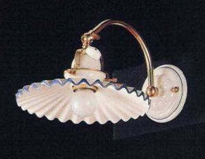 Originale Bauernstuben Wandlampe Rosa