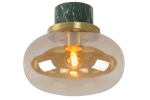 LU 03140/23/62 LORENA Ceiling Light E27 Ø 23cm Green Marble/Amber