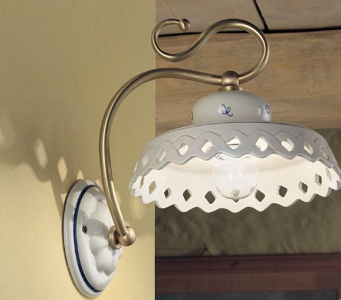 perugia ap wandleuchte von ferroluce rustikale leuchten. Black Bedroom Furniture Sets. Home Design Ideas
