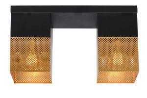 LU 21123/02/02 RENATE Ceiling Light  2x E27/40W Black/Gold