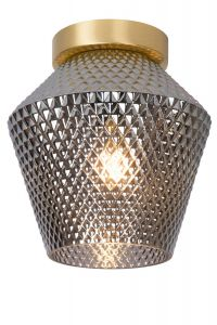 LU 03134/01/65 ROSALIND Ceiling Light E27/40W Brass / Smoke Glass