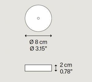 Single Mini Deckenrosette von Lodes