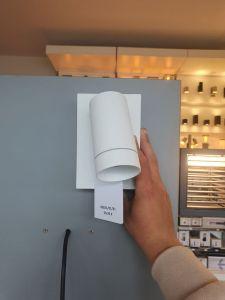 LU 09831/01/31 TAYLOR Wall Spot 1xGU10/50W IP44 White