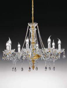 Siviglia 6L Crystal chandelier by Voltolina