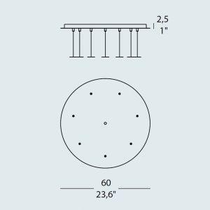 Trottola RO7 7-er Deckenrosette von Evi Style