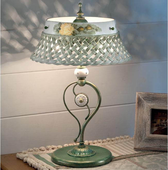 Verona ta lampada da tavolo di ferroluce rustico for Lampade a led vendita online