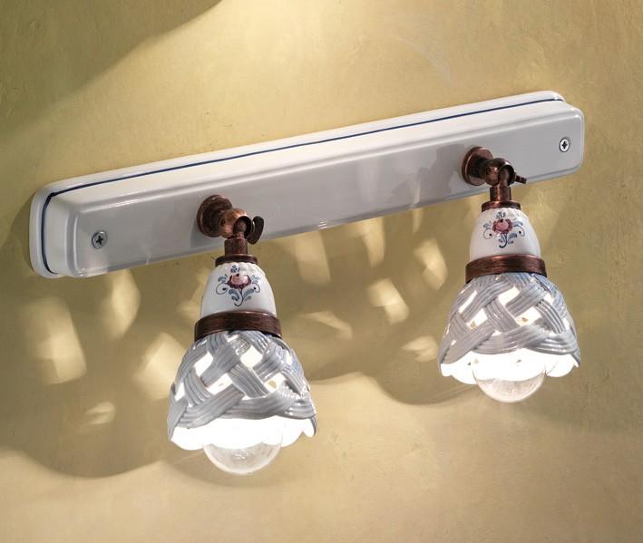 Verona ap lampada da parete di ferroluce rustico for Lampade a led vendita online