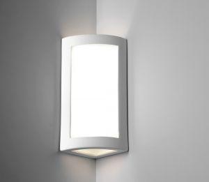 Eckwandlampe aus Gips 8196 von Belfiore