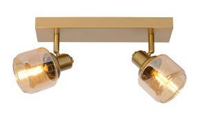 LU 77979/02/02 Lucide BJORN - Ceiling spotlight - 2xE14 - Matt Gold / Brass