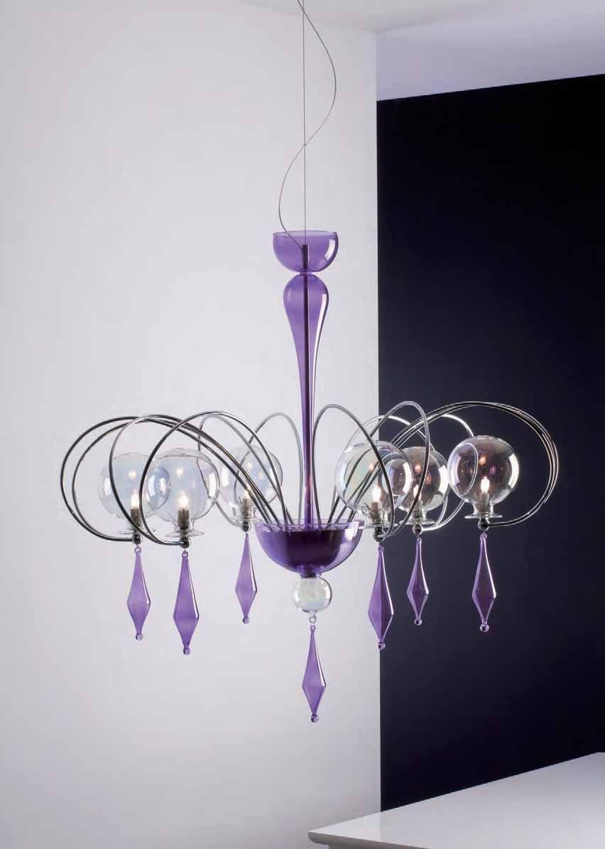 Candeliere globo con 8 bracci di cangini tucci for Lampade a led vendita online