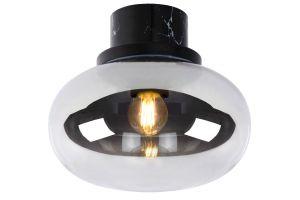 LU 03140/23/65 LORENA Ceiling Light E27 Ø 23cm Black Marble/Smoke