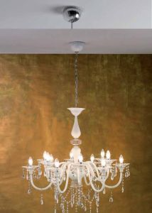 """Chandelier """"Soffio"""" with 8 arms from Changini & Tucci"""