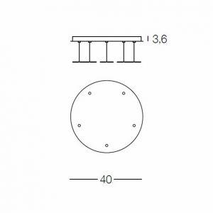 MINERVA RO5 Deckenrosette von Evi Style