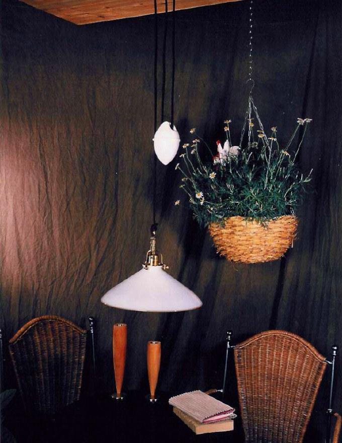 originale bauernstuben zuglampe anna aus mundgeblasenem. Black Bedroom Furniture Sets. Home Design Ideas